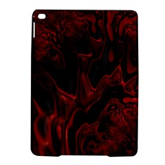Fractal Red Black Glossy Pattern Decorative Ipad Air 2 Hardshell Cases