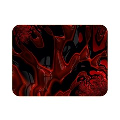 Fractal Red Black Glossy Pattern Decorative Double Sided Flano Blanket (mini)