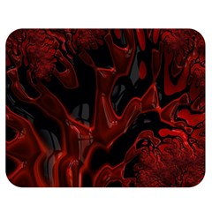 Fractal Red Black Glossy Pattern Decorative Double Sided Flano Blanket (medium)