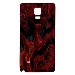 Fractal Red Black Glossy Pattern Decorative Galaxy Note 4 Back Case