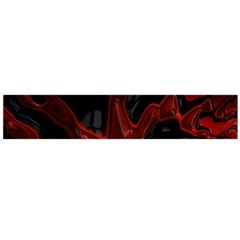 Fractal Red Black Glossy Pattern Decorative Flano Scarf (large)