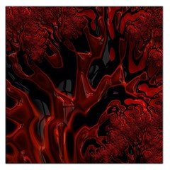 Fractal Red Black Glossy Pattern Decorative Large Satin Scarf (square)