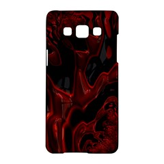 Fractal Red Black Glossy Pattern Decorative Samsung Galaxy A5 Hardshell Case