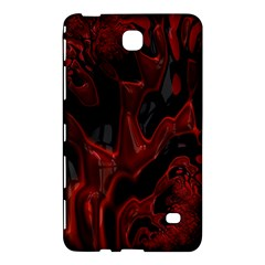 Fractal Red Black Glossy Pattern Decorative Samsung Galaxy Tab 4 (8 ) Hardshell Case