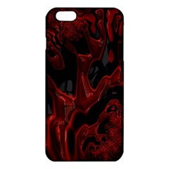 Fractal Red Black Glossy Pattern Decorative iPhone 6 Plus/6S Plus TPU Case