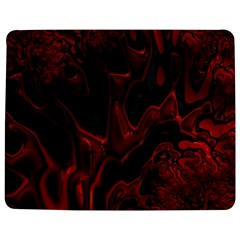 Fractal Red Black Glossy Pattern Decorative Jigsaw Puzzle Photo Stand (Rectangular)