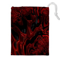 Fractal Red Black Glossy Pattern Decorative Drawstring Pouches (xxl)