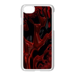 Fractal Red Black Glossy Pattern Decorative Apple Iphone 7 Seamless Case (white)