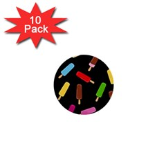 Decorative ice cream pattern 1  Mini Buttons (10 pack)
