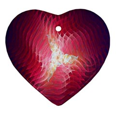 Fractal Red Sample Abstract Pattern Background Ornament (heart)