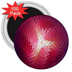 Fractal Red Sample Abstract Pattern Background 3  Magnets (100 Pack)