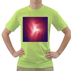 Fractal Red Sample Abstract Pattern Background Green T Shirt