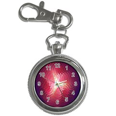 Fractal Red Sample Abstract Pattern Background Key Chain Watches