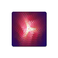 Fractal Red Sample Abstract Pattern Background Square Magnet