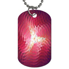 Fractal Red Sample Abstract Pattern Background Dog Tag (one Side)