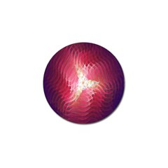 Fractal Red Sample Abstract Pattern Background Golf Ball Marker (10 Pack)