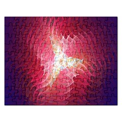 Fractal Red Sample Abstract Pattern Background Rectangular Jigsaw Puzzl