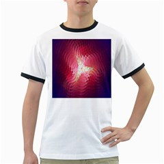 Fractal Red Sample Abstract Pattern Background Ringer T Shirts
