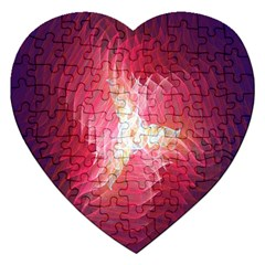 Fractal Red Sample Abstract Pattern Background Jigsaw Puzzle (heart)