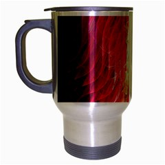 Fractal Red Sample Abstract Pattern Background Travel Mug (silver Gray)