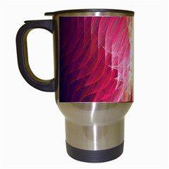 Fractal Red Sample Abstract Pattern Background Travel Mugs (white)