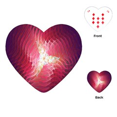 Fractal Red Sample Abstract Pattern Background Playing Cards (heart)