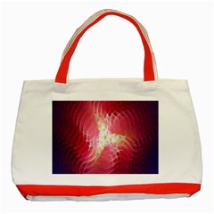 Fractal Red Sample Abstract Pattern Background Classic Tote Bag (red)