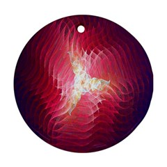Fractal Red Sample Abstract Pattern Background Round Ornament (two Sides)