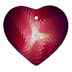 Fractal Red Sample Abstract Pattern Background Heart Ornament (two Sides)
