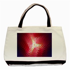 Fractal Red Sample Abstract Pattern Background Basic Tote Bag (two Sides)