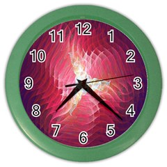 Fractal Red Sample Abstract Pattern Background Color Wall Clocks