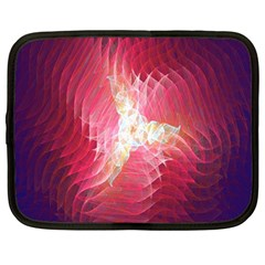 Fractal Red Sample Abstract Pattern Background Netbook Case (Large)