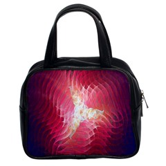 Fractal Red Sample Abstract Pattern Background Classic Handbags (2 Sides)