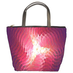 Fractal Red Sample Abstract Pattern Background Bucket Bags