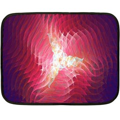 Fractal Red Sample Abstract Pattern Background Double Sided Fleece Blanket (mini)