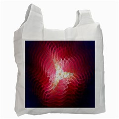 Fractal Red Sample Abstract Pattern Background Recycle Bag (one Side)