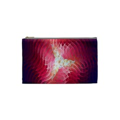 Fractal Red Sample Abstract Pattern Background Cosmetic Bag (small)