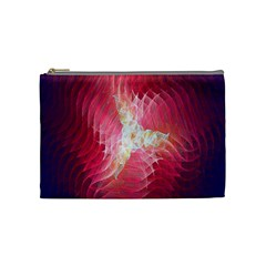Fractal Red Sample Abstract Pattern Background Cosmetic Bag (medium)