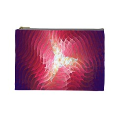 Fractal Red Sample Abstract Pattern Background Cosmetic Bag (large)