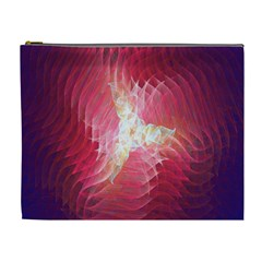 Fractal Red Sample Abstract Pattern Background Cosmetic Bag (xl)