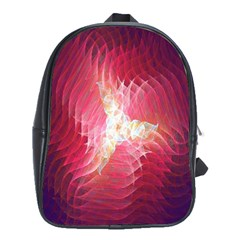 Fractal Red Sample Abstract Pattern Background School Bags(large)