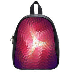 Fractal Red Sample Abstract Pattern Background School Bags (small)