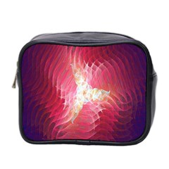 Fractal Red Sample Abstract Pattern Background Mini Toiletries Bag 2 Side