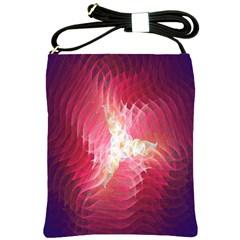 Fractal Red Sample Abstract Pattern Background Shoulder Sling Bags
