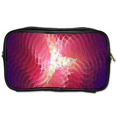 Fractal Red Sample Abstract Pattern Background Toiletries Bags