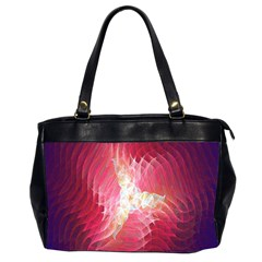 Fractal Red Sample Abstract Pattern Background Office Handbags (2 Sides)