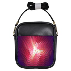 Fractal Red Sample Abstract Pattern Background Girls Sling Bags