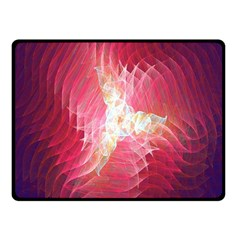 Fractal Red Sample Abstract Pattern Background Fleece Blanket (small)