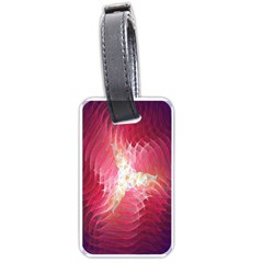 Fractal Red Sample Abstract Pattern Background Luggage Tags (one Side)
