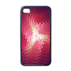 Fractal Red Sample Abstract Pattern Background Apple Iphone 4 Case (black)